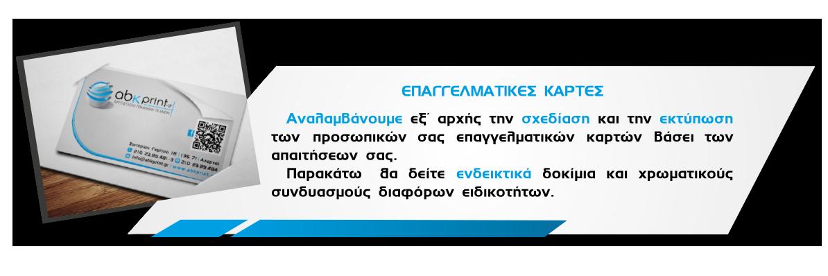 ΕΠΑΓΓΕΛΜΑΤΙΚΕΣ ΚΑΡΤΕΣ